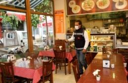 Büyükçekmece'de yeniden açılan işletmelerde hijyen ve dezenfekte seferberliği
