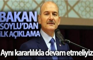 İstifası Saray'dan dönen Süleyman Soylu'dan...
