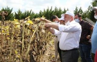 """Başkan Mesut Üner """"Çiftçilerimizin hasadı bol..."""