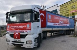 SİLİVRİ'DEN İZMİR'E İKİNCİ YARDIM TIR'I...