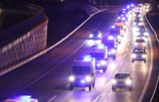 61 ambulans Ankara'dan İstanbul'a geldi