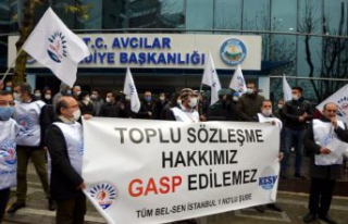 AVCILAR BELEDİYESİ MEMURLARINDAN 'EYLEME DEVAM'...