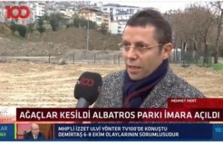 Mehmet Mert; Albatros'da ağaç katliamı yaşanıyor...