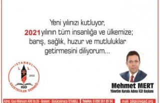 Mehmet Mert'den yeni yıl mesajı