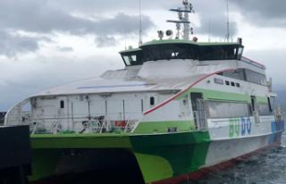 Deniz ulaşımına fırtına engeli: BUDO seferleri...
