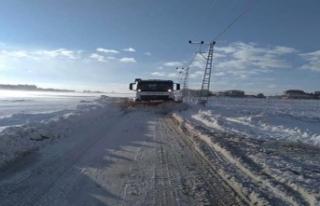 Büyükçekmece Belediyesi'nin kar çalışmaları...