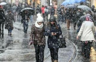 İstanbul'da beklenen kar yağışı için gün...