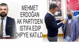 AK Parti'den istifa edip CHP'ye katıldı.