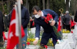 Çanakkale Şehitleri Edirnekapı Şehitliği'nde...