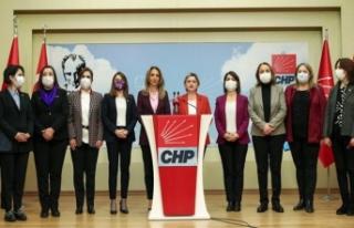 CHP'li kadınlardan İstanbul Sözleşmesi'...
