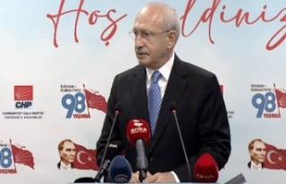 CHP lideri Kemal Kılıçdaroğlu'ndan HDP'ye...
