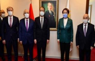 Erbakan Meral Akşener'i İYİ Parti genel merkezinde...