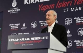 2018'de durdurulan Kirazlı-Halkalı Metrosu'nu...