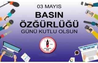 3 Mayıs Dünya Basın Özgürlüğü Günü'nü,...