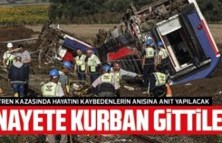 Çorlu tren kazasında hayatını kaybedenler için...