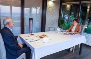Meral Akşener ile Kemal Kılıçdaroğlu birlikte...