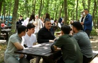 Başkan Bozkurt, öğrencilerle sınav öncesi motivasyon...