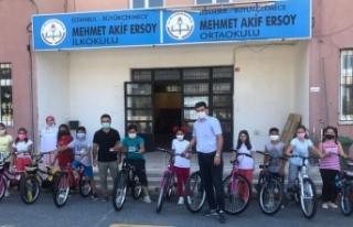 Büyükçekmeceli öğrencilerin bisiklet sevinci