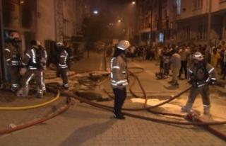 Esenyurt'ta iş yeri yangını