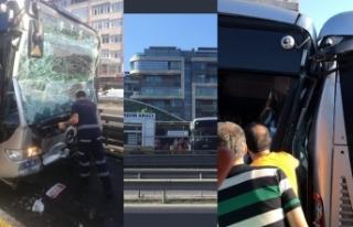 İstanbul'da metrobüs kazası: Çok sayıda...