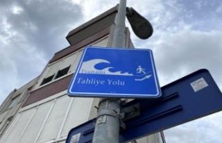 Büyükçekmece'de 'Tsunami Tahliye Yolu'...
