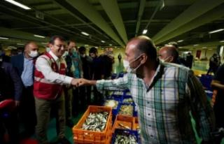 İmamoğlu, balıkçı esnafının heyecanına ortak...