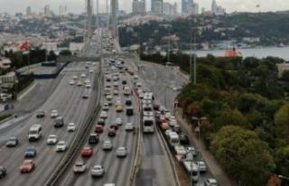 İstanbul'da trafik felç, yoğunluk yüzde 60'ı...