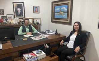 Mehmet Mert'e muhtar ziyareti