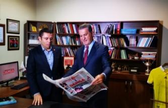 Türkiye Değişim Partisi Genel BaşkanıMustafa Sarıgül Damga'da
