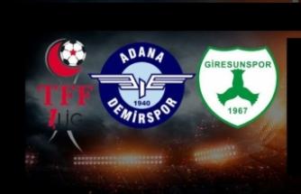 Süper Lig'e yükselen ilk 2 takım Adana Demirspor ve Giresunspor oldu