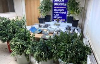 Beylükdüzü'nde villa uyuşturucu imalathanesi çıktı