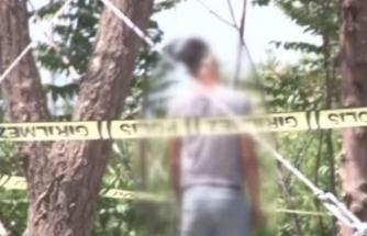 Küçükçekmece'de ağaca asılı erkek cesedi bulundu
