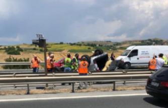 Silivri TEM Otoyolu'nda zincirleme kaza: 4 yaralı