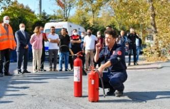 Yangına karşı uygulamalı eğitim