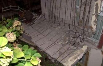 Avcılar'da bir apartman dairesinin balkonu çöktü, bina tahliye edildi