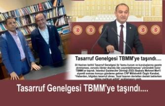 Tasarruf Genelgesi TBMM'ye taşındı....