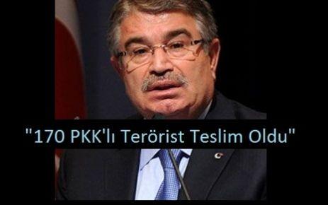 """170 PKK'lı Terörist Teslim Oldu"""