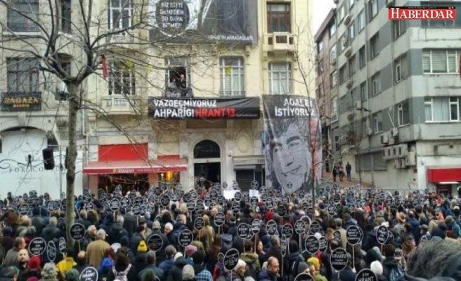 Gazeteci Hrant Dink öldürülüşünün 13. yılında anıldı