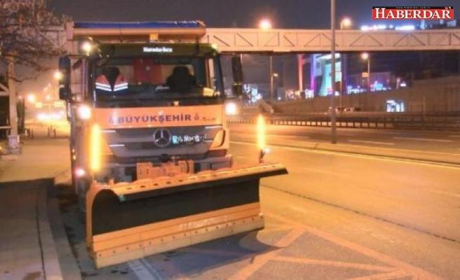 İstanbul'da kar hazırlığı