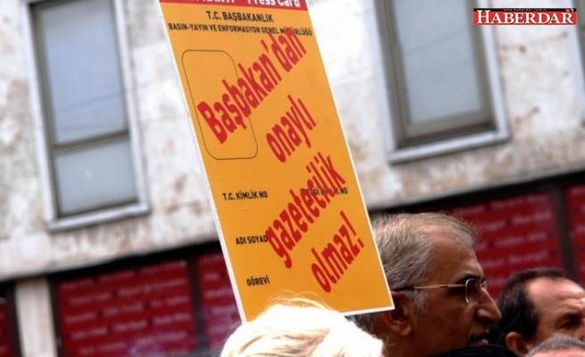 Saray'dan basın kartı açıklaması