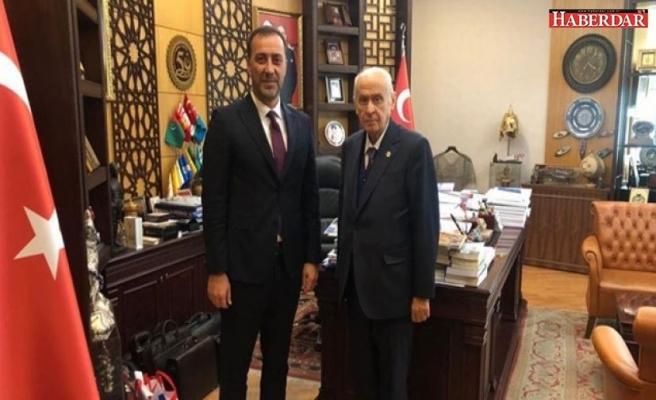 Silivri Belediye Başkanı Volkan Yılmaz, MHP Lideri Devlet Bahçeli'yi ziyaret etti.