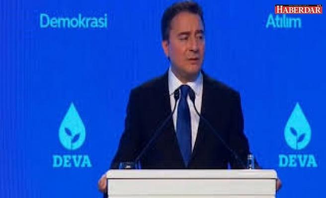 Ali Babacan, kurucu genel başkanı olduğu partisi DEVA'yı tanıttı