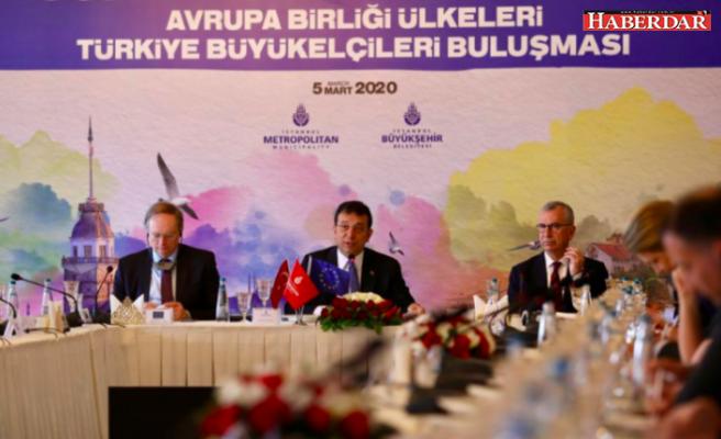 Ekrem İmamoğlu, AB ülkelerinin büyükelçilerini İstanbul'da ağırladı