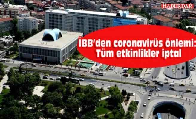 İBB'den corona virüs önlemi: Etkinlikler iptal