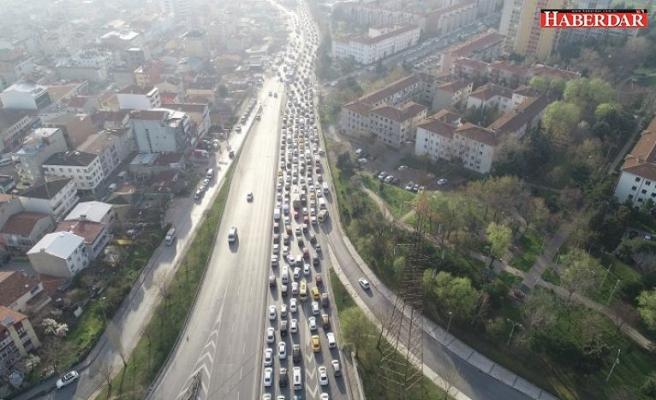 İkitelli'de trafik kabusu
