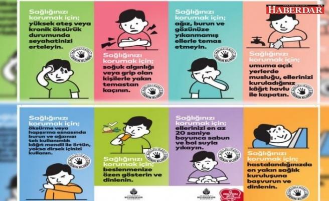 İstanbul Büyükşehir Belediyesi, koronavirüs için Kürtçe afiş ve anons hazırladı