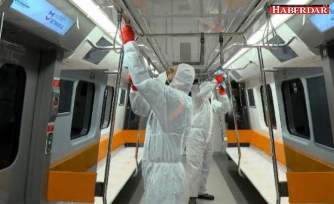 İstanbul metrolarında virüs önlemi