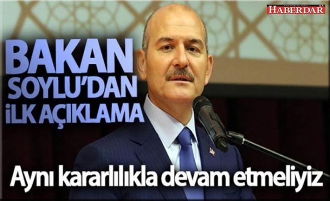 İstifası Saray'dan dönen Süleyman Soylu'dan beklenen açıklama geldi