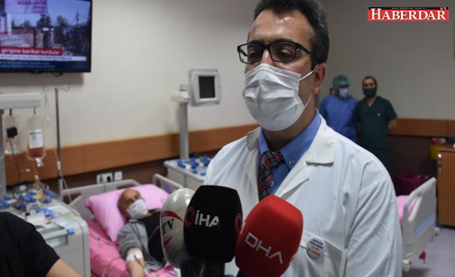 Türkiye'de bir ilk! Coronayı yenen kişiden plazma alınıp hastaya nakledildi