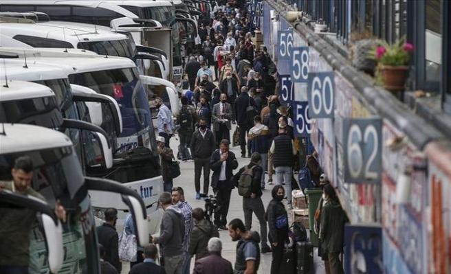 İstanbul'da şehirlerarası otobüs sefer sayısı günde 1150'ye çıktı